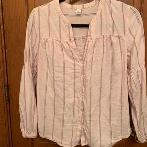 Pink with stripes blouse